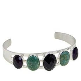 Jay King Amethyst and New Red Skin Turquoise Cuff