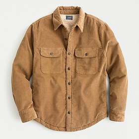 J. Crew Corduroy shirt-jacket with sherpa lining
