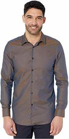Perry Ellis Slim Fit Dobby Solid Resist Spill Shir
