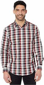 Perry Ellis Multicolor Check Print Long Sleeve But