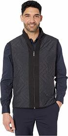Perry Ellis Chevron Quilt Front Ponte Full Zip Sle