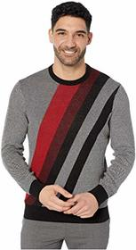 Perry Ellis Bold Stripe Long Sleeve Sweater