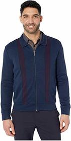 Perry Ellis Bold Stripe Full Zip Long Sleeve Shirt