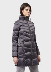 Armani Long down jacket with full zip and removabl