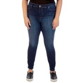 Plus Size High Rise Tummy Control Skinny Jeans