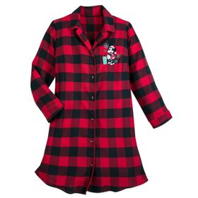 Disney Minnie Mouse Holiday Plaid Nightshirt for W