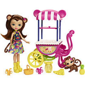 Mattel Enchantimals Fruit Cart Doll Set