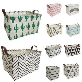 "HIYAGON Storage Baskets, 15""L x 10""W x 9""H Cotton"