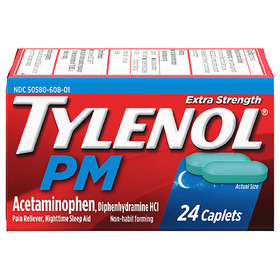 TYLENOL PM Extra Strength Pain Reliever & Sleep Ai