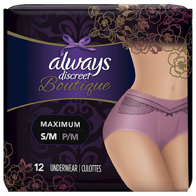 Always Discreet Boutique Incontinence Underwear fo