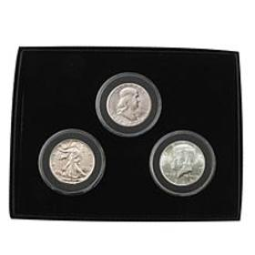 3pc Last Century Uncirculated 90% Silver Half Doll