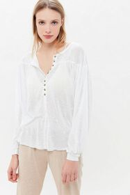 Out From Under Tahoe Button-Front Tunic Top