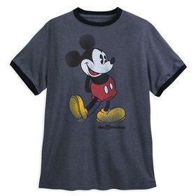 Disney Mickey Mouse Classic Ringer T-Shirt for Adu