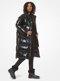 [object Object] Quilted Glossed Puffer Coat
