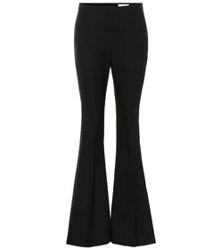 Alexander McQueen Mid-rise flared wool-blend pants