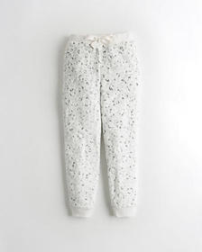 Hollister Sherpa Sleep Joggers, WHITE PATTERN