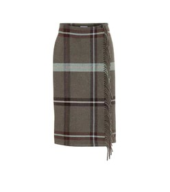 Salvatore Ferragamo Checked wool skirt