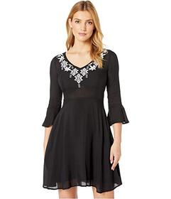 Stetson 8175 Solid Black Rayon Swing Dress