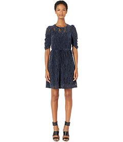 See by Chloe Velvet Knit Drawstring Dress