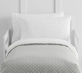 Pottery Barn Organic Pin Dot Toddler Duvet Cover