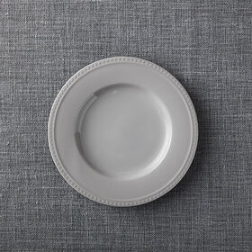 Crate Barrel Staccato Grey Salad Plate