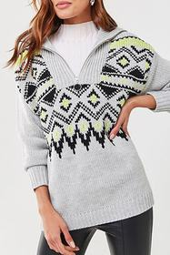 Forever21 Fair Isle Knit Pullover