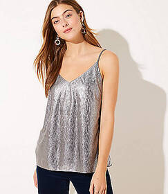 Shimmer Pleated Cami