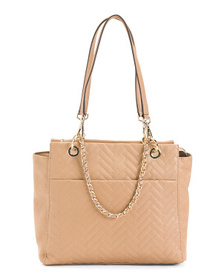 ETIENNE AIGNER Cara Leather Quilted Tote