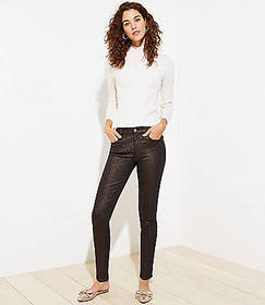 Shimmer Slim Pocket Skinny Jeans in Black