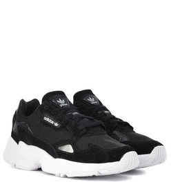 Adidas Originals Falcon suede-trimmed sneakers