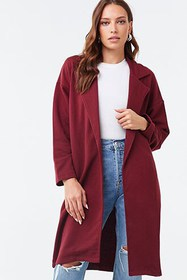 Forever21 French Terry Trench Coat
