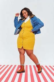 Forever21 Plus Size Ribbed Sweater Dress