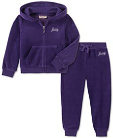 Toddler Girls 2-Pc. Velour Hoodie & Jogger Pants S