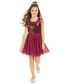 Big Girls Sequin Ruffle-Sleeve Party Dress, Create