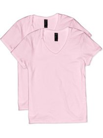 Hanes Women's Nano-T V-neck T-Shirt (2-Pack)