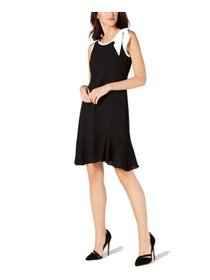Womens Shift Dress Petite Bow-Trim 8P