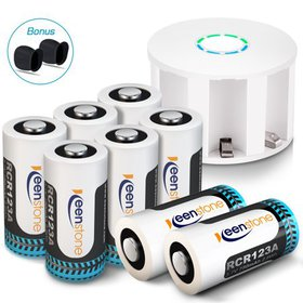 Keenstone RCR123A Rechargeable arlo pro Batteries,