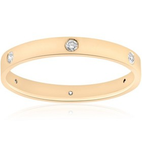 Pompeii3 14k Yellow Gold Diamond Eternity Wedding