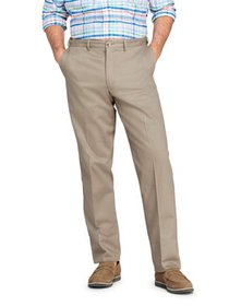 Lands' End Men's Plain Comfort Waist No-Iron Chino