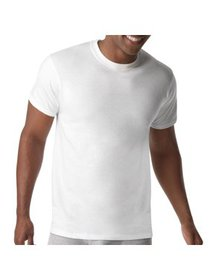 Men's Big & Tall X-Temp White Crew T-Shirts, 4 Pac