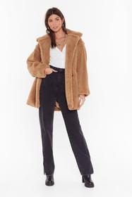 Nasty Gal Camel Crazy Fur Your Love Oversized Faux