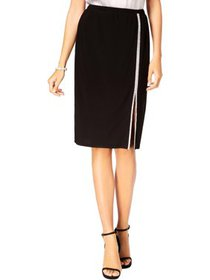 MSK Womens Petites Embellished Side Slit Pencil Sk