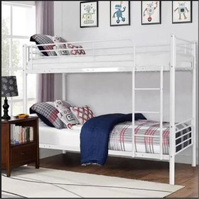 Zimtown Metal Bunk Bed Twin Over Twin Heavy Duty B