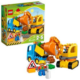LEGO DUPLO Town Truck & Tracked Excavator 10812 (2