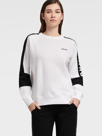Donna Karan REVERSIBLE COLOR BLOCK LOGO SWEATSHIRT