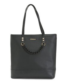 RAMPAGE Tote With Acrylic Chain Detail