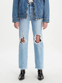 Levi's Ribcage Full Length Ripped Women's Jeans