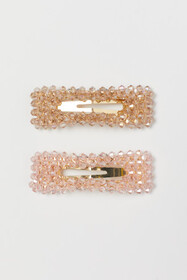2-pack Hair Clips with Beads
