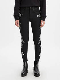 Levi's 721 High Rise Embroidered Ankle Skinny Wome