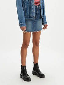 Levi's High Rise Deconstructed Button Fly Skirt